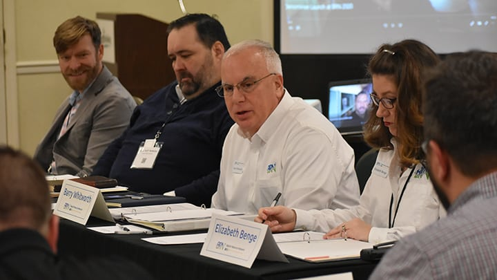 Barry Whitworth leads Exec Board meeting