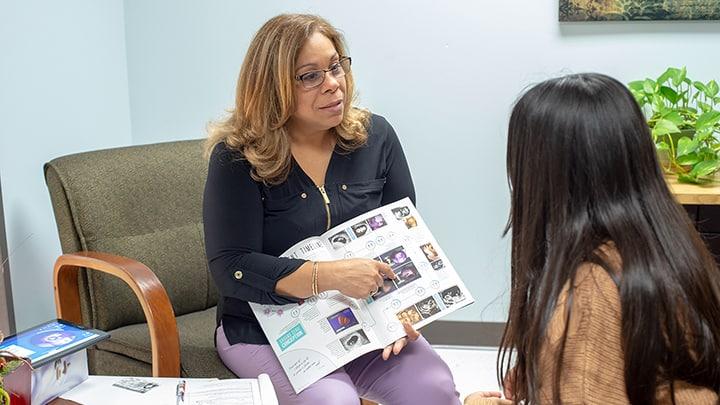 Flora Lopez With Client