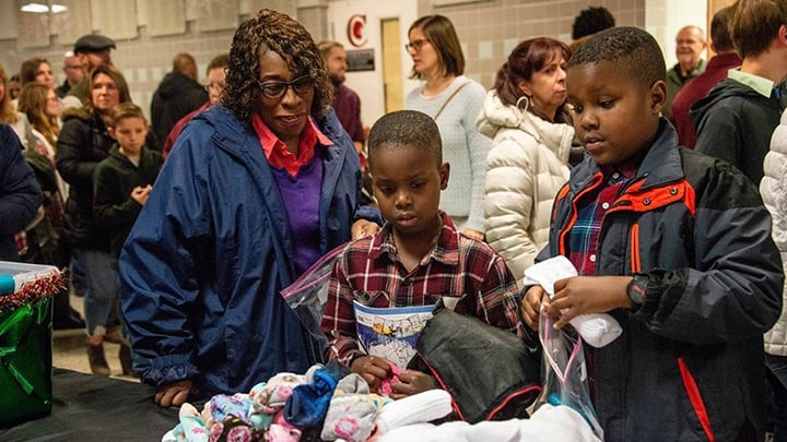 Providence Church 2019 Christmas guests receive gifts