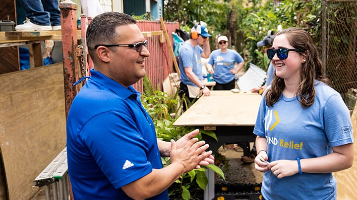 Santiago And Send Relief Volunteers