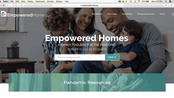 Empowered Homes Web Home Page