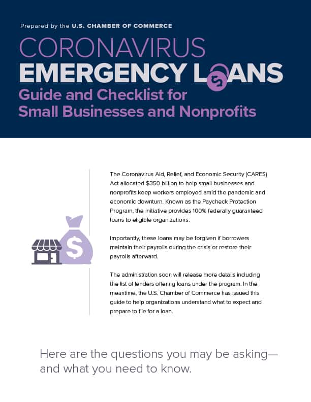 US Chamber of Commerce-COVID Emergency Loan Guide