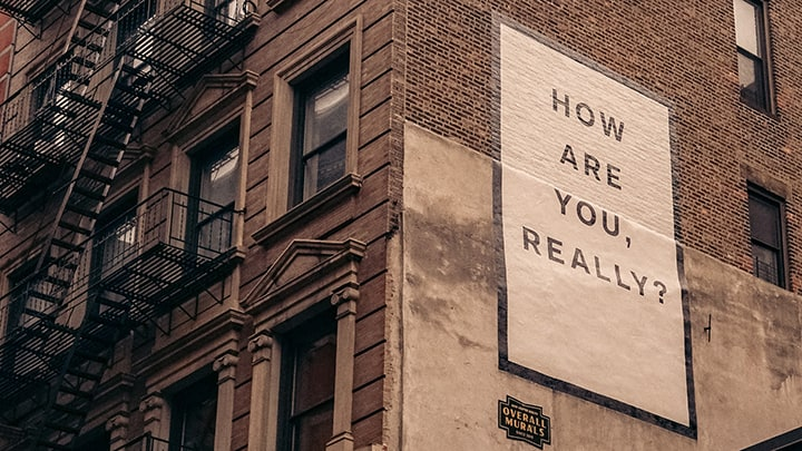 Sign On Building With Words,