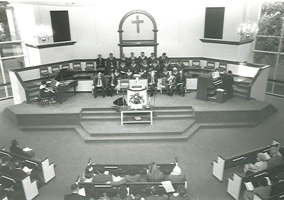 Birds-eye View of Church Pulpit