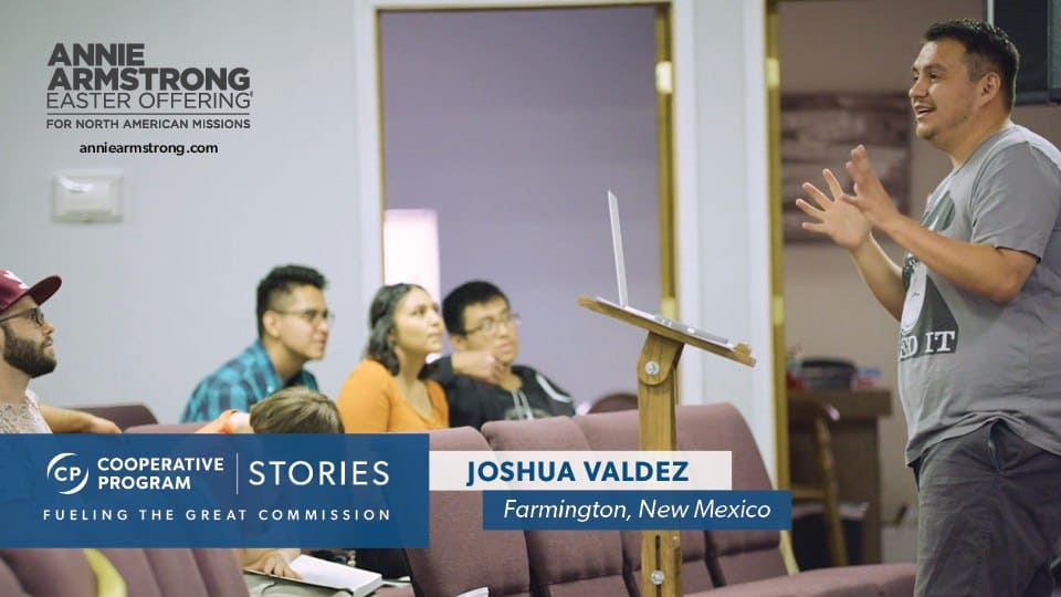 Joshua Valdez Speaking To A Group Of Students