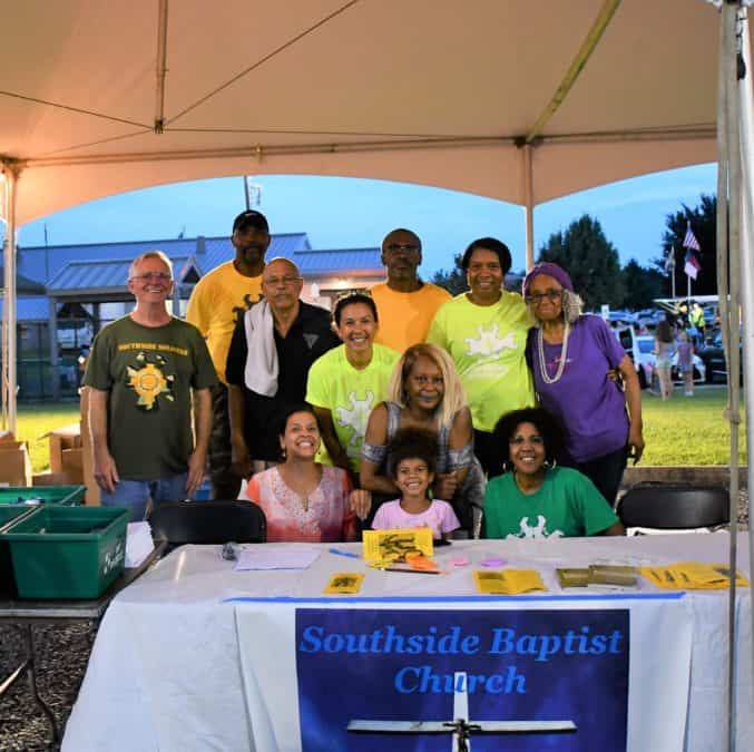 Members from Southside Baptist Church in Lumberton, N.J., join in outreach to their community.