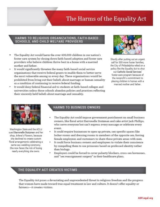 Equality Act One-Pager Page 1