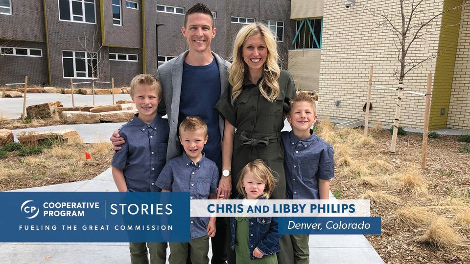 Chris And Libby Philips With Their Four Children.