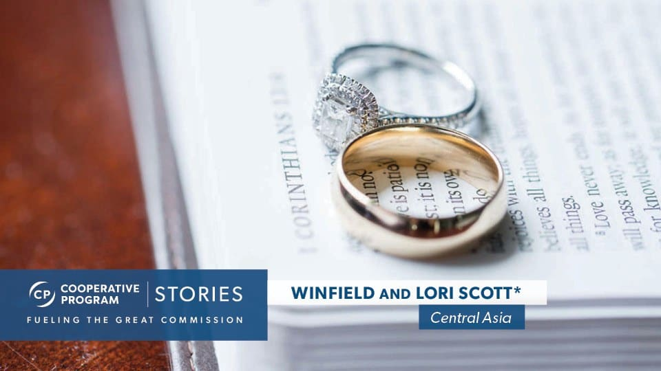 Wedding Rings Sitting On Open Bible Page