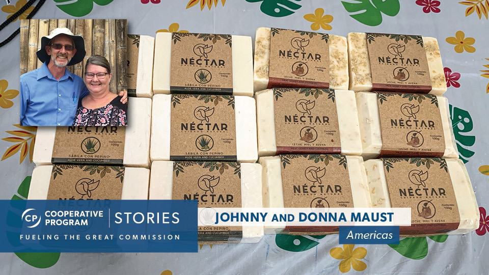 Missionaries Johnny And Donna Maust Pictured With Nectar Soap
