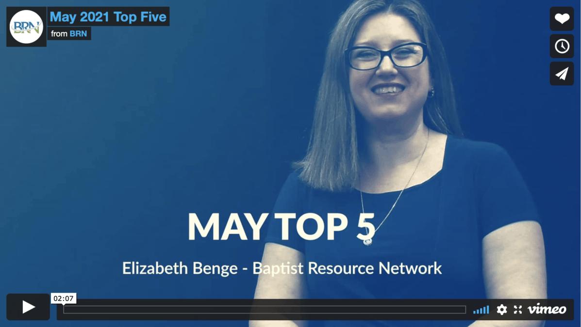 Elizabeth Benge May Top Five