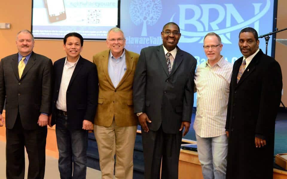 Past BRN presidents with David Waltz