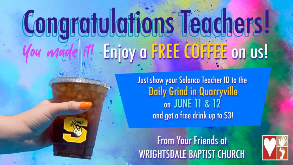 Wrightsdale Free Coffee Ad