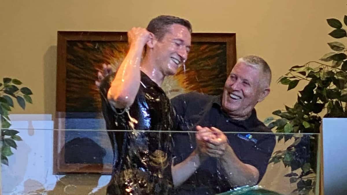 Cross Creek baptism - Logan